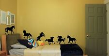 Home Wall Stickers Of Horses Ponies Set Of 6 Animal Decals Art Removable Decals