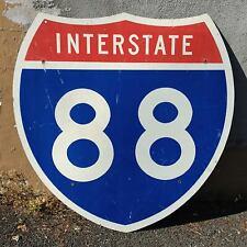 Vintage Retired INTERSTATE 88 HIGHWAY SIGN 36x36 Binghamton Cobleskill Albany NY