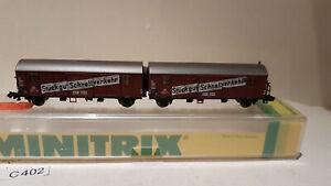 Minitrix 13624 Stückgut Schnellverkehr der DB Doppelpack Spur N in OVP (C402)