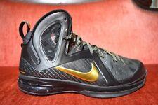 WORN 1X Nike Lebron 9 IX Elite Black Gold Size 8 P.S. 516958-002 Playoff Away