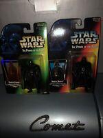 vintage star wars lot Of 2 POTF Darth Vader Red Card Long Saber Green Card 95/96