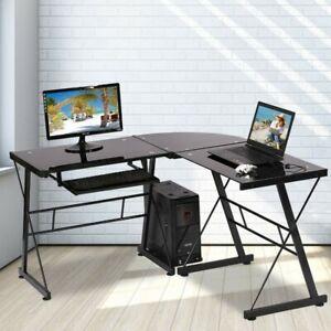 L Shaped Computer Desk Office Desk Gaming Writing Corner Desk Study PC Laptop