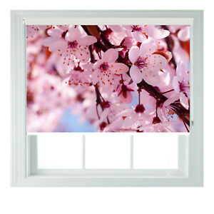 Blossom Floral Bold Modern Printed Photo Black Out Roller Blinds 23456ft