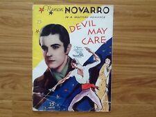 Ramon Novarro in Devil May Care  MGM  1932 Program All Talking