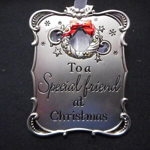 """NEW Mini Plaque/Ornament """"To a SPECIAL FRIEND at Christmas"""", from Ganz"""