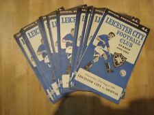 Full set of Leicester City home programmes 1961-62 - 22 programmes No Europe