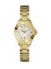 Guess GC Womens Sport Chic Class XL-S Swiss Made Silver Dial Gold Tone SS Watch