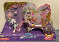 Shopkins Happy Places Royal Crown Carriage Playset Bridie Shoppie Doll NEW