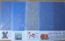 Plantillas de mi mundo de color x 4 Mega animales, ratón, gato, Hipopótamo & Vaca