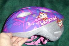 Girls toddler BIKE BICYCLE SKATE HELMET 51-54cm purple Littlest Pet Shop USED