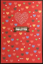 Heart Pattern Letter Pad Stationery - Cute Kawaii Korean Writing Paper -64 pages