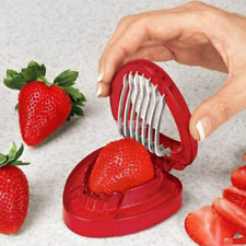 New Strawberry Slicer Fruit Tools Salad Cutter Cake Decor Kitchen Gadgets Us