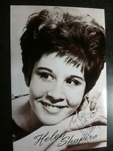 HELEN SHAPIRO Authentic Hand Signed Autograph 4X6 Photo - BEAUTIFUL SINGER