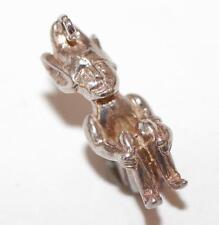 Vintage Sterling Silver Bracelet Charm Sitting Lucky Pixie Elf (3.9g)