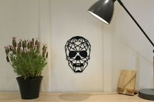 Geometric Skull - Wall Art Decoration Halloween Colour Black/White