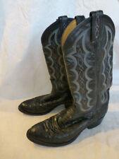 MENS TONY LAMA WESTERN COWBOY BOOTS BLACK LEATHER SIZE 8.5D