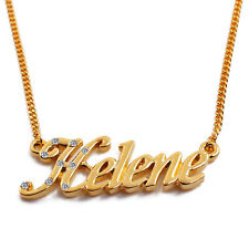"Necklace With Name ""Helene"" - 18K Gold Plated 