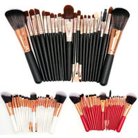 22pcs Pro Cosmetic Brush Makeup Blusher Eye Shadow Kabuki Brushes Set Tool Kit