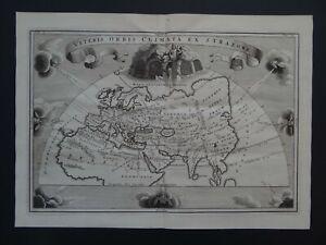 1703 CELLARIUS  Atlas map  ANCIENT WORLD - Veteris Orbis Climata ex Strabone