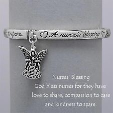 Nurses Blessing Bracelet Compassion SILVER Angel LoveCharm Inspirational Jewelry