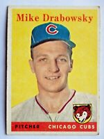 Mike Drabowsky #135 Topps 1958 Baseball Card (Chicago Cubs) G