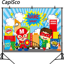 Superhero Photography Backdrops Birthday Party Baby Kids Photographic Background