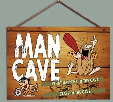 Chic Man Cave sign plaque,Funny Novelty Man Cave Sign,Man Gift Wooden Plaque
