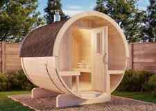 FinnTherm Fass-Sauna Tori aus Holz Fasssauna 42 mm Wandstärke Sauna Außensauna