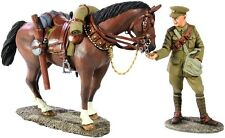 W Britain Soldiers 23063 WWI British Lancer Feeding Horse 1/30 Scale Collectible