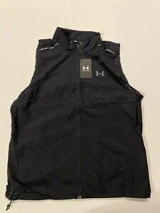 Under Armour Vest Men's Large New Outrun Storm Black 1365670 Running MSRP $90