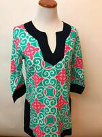 SIMPLY SOUTHERN 100% cotton Tunic print blouse shirt Women's S NEW NW0