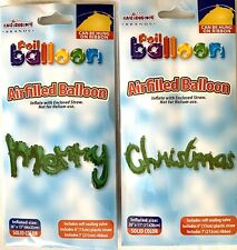 """Kaleidoscope """"MERRY CHRISTMAS"""" Foil Balloons Party Decoration Supplies GREEN NEW"""