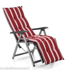 Auflagen für Relax Liegestuhl Relaxsessel Relaxauflagen Naxos 20581-310 in rot