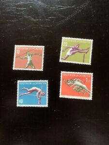Briefmarken Liechtenstein postfrisch Sportsatz 1956