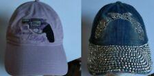 Lavender Lady Pistol - Distressed Denim Sequin 2 guns Crossed Hat