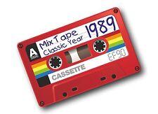 RETRO OLD SCHOOL CASSETTE ef90 MIX TAPE 1989 CLASSICO IN VINILE Auto Adesivo Decalcomania