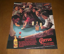 CUERVO TEQUILA KIRSTIE ALLEY 8x10 COLOR AD PRINT