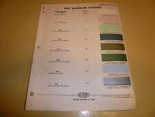 1961 AMC Dupont Duco DuLux Color Chip Paint Sample