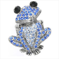 Smart Frog Froggy Animal Pet Cocktail Rings Costume Jewelry Crystal Blue New 187
