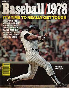1978 Dell Baseball magazine, Reggie Jackson, New York Yankees FAIR