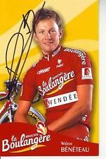 CYCLISME  carte cycliste WALTER BENETEAU  équipe LA BOULANGERE 2003 signée