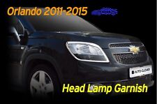 Head Lamp Garnish Chrome Molding Cover 2P Silver C402 for Chevy Orlando 2011~16