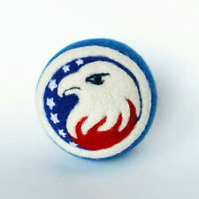 Handmade felted ornament with Eagle, July 4th decor, 2 ½in.