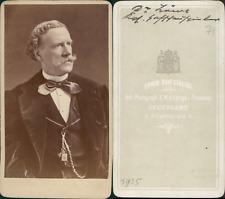 Hanfstaengl, Stuttgart, Dr. Löwe, acteur CDV vintage albumen carte de visite