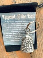 In Memory of Our Fallen Heroes GUARDIAN Bell of Good Luck fortune keychain gift