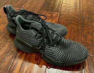 Mens Adidas Alpha Bounce Black Shoes 8.5