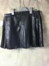 ZARA FAUX LEATHER SKIRT WITH PLEATED SIDE DETAIL SIZE LARGE (B3) REF: 2398 023