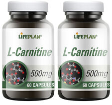 Lifeplan L-Carnitina 500mg 2 x 60 cápsulas Pack doble (120 cápsulas)