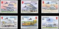 Jersey 2012 Airport/Planes/Aircraft/Aviation/Transport/Buildings 6v set (n21777)