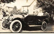 RPPC Vintage Automobile Convertible Old Car 1914 License Plate Photo Postcard